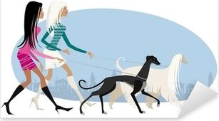 Pixerstick Sticker Lopen honden