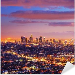 Los Angeles city skyline sunset night Pixerstick Sticker