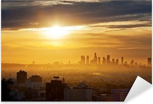 Sticker Pixerstick Los Angeles lever du soleil
