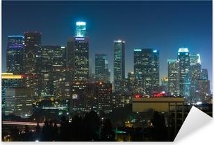 Los Angeles skyscrapers at night Pixerstick Sticker