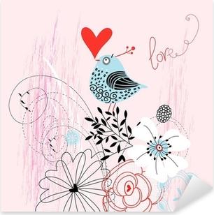 love bird Pixerstick Sticker