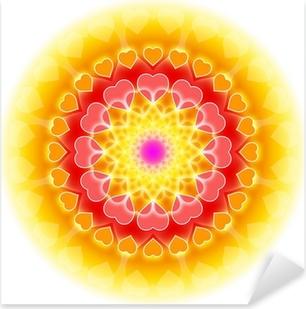 Love Mandala 01 - Flowering of the Heart Pixerstick Sticker