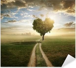 Love Tree Pixerstick Sticker
