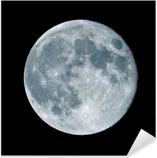 Sticker Pixerstick Lune de nuit nocturne
