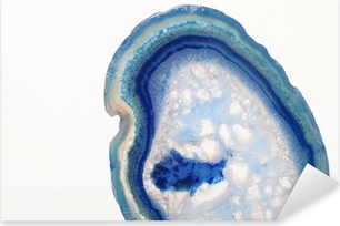 Sticker Pixerstick Macro de pierre d'agate bleue