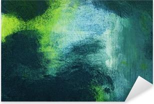Pixerstick Sticker Macro van het schilderij, kleurrijk abstract