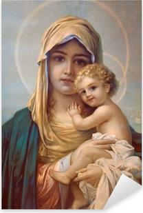 Madonna - Mother of God Pixerstick Sticker
