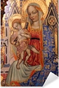 Madonna with Child Pixerstick Sticker