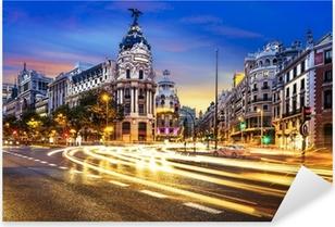 Madrid city center, Gran Vis Spain Pixerstick Sticker