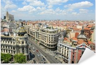 Madrid City Skyline aerial view, Madrid, Spain Pixerstick Sticker