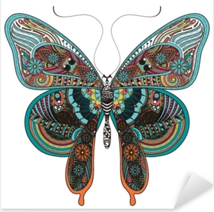 Sticker Pixerstick Magnifique papillon