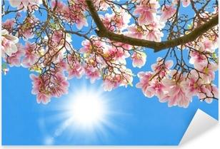 Pixerstick Sticker Magnolia in de zon