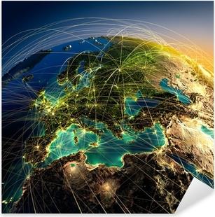 Main air routes in Europe Pixerstick Sticker