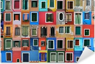 Sticker Pixerstick Maisons de pêcheurs à Burano près de Venise
