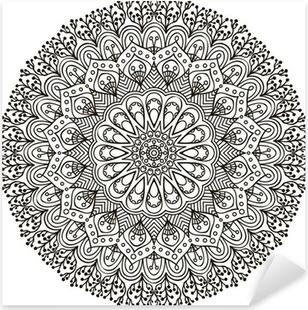 Mandala. Ethnic decorative elements. Pixerstick Sticker