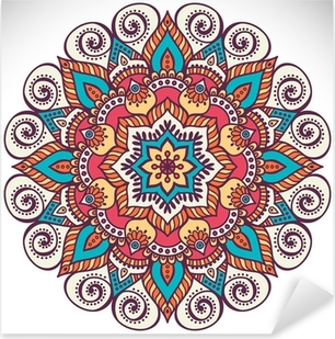 Mandala in ethnic style Pixerstick Sticker