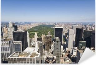 Pixerstick Sticker Manhattan Van hoog gezichtspunt