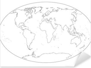 Cartina Mondo Vuota.Mappa Del Mondo In Bianco E Nero Vuota Sticker Pixers We Live To Change