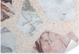 Marble patterned texture Terrazzo Floor, polished stone pattern Pixerstick Sticker