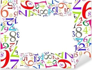 Marco de números de colores Pixerstick Sticker