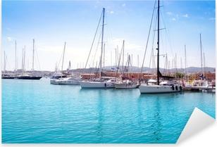 Marina port in Palma de Mallorca at Balearic Islands Pixerstick Sticker