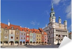 Market square, Poznan, Poland Pixerstick Sticker