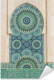 Pixerstick Sticker Marokkaanse vintage tegel achtergrond