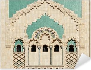 Pixerstick Sticker Marokko. Detail van Hassan II Moskee in Casablanca