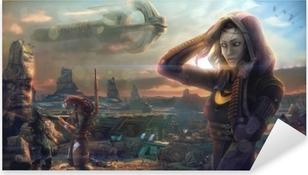 Mass Effect Pixerstick Sticker