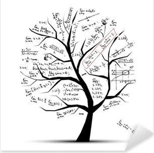 Math tree for your design Pixerstick Sticker