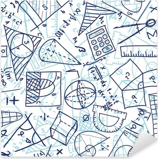 Mathematics seamless pattern Pixerstick Sticker