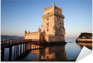 Sticker Pixerstick Matin à la tour de Belém à Lisbonne
