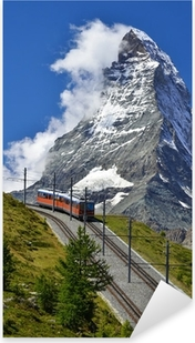 Matterhorn railway from Zermatt to Gornergrat. Switzerland Pixerstick Sticker