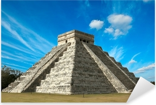 Mayan pyramid in Chichen-Itza, Mexico Pixerstick Sticker
