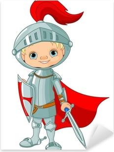 Medieval knight Pixerstick Sticker