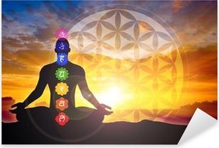 Sticker Pixerstick Méditation