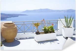 Mediterranean terrace Pixerstick Sticker