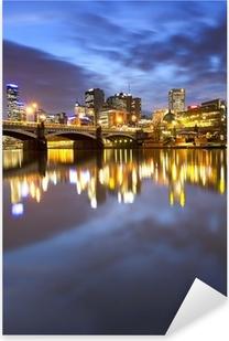 Melbourne Australia Pixerstick Sticker
