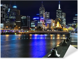 Sticker Pixerstick Melbourne ma Skyline und Yarra River