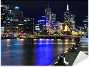Pixerstick Sticker Melbourne Skyline mit und Yarra River
