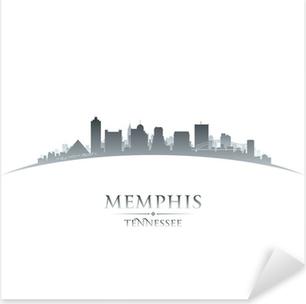 Pixerstick Sticker Memphis Tennessee skyline silhouet witte achtergrond