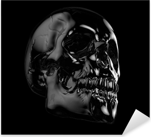 Pixerstick Sticker Menselijke schedel.