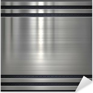 Metal background or texture with holes Pixerstick Sticker