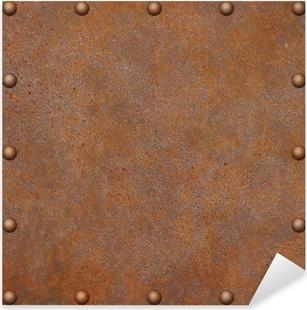 Sticker Pixerstick Metal rouille background