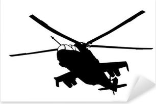 Mi-24 (Hind) helicopter silhouette Pixerstick Sticker