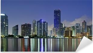 Miami Skyline. Pixerstick Sticker