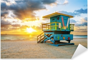 Sticker Pixerstick Miami South Beach lever du soleil