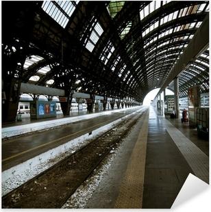 Milan station architecture Pixerstick Sticker