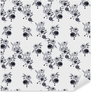Pixerstick Sticker Minimalistische bloemmotief - Nina Ho