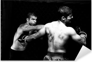 Pixerstick Sticker MMA - Mixed martial kunstenaars vechten - ponsen